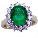 Bold and Beautiful Oval Emerald and Diamond Ring.